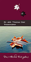 Folder Trauerredner Dr. Thomas Oser